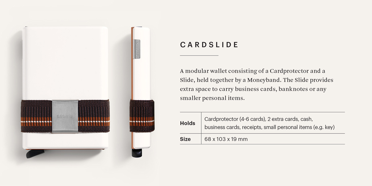 Secrid Cardslide Infoblatt
